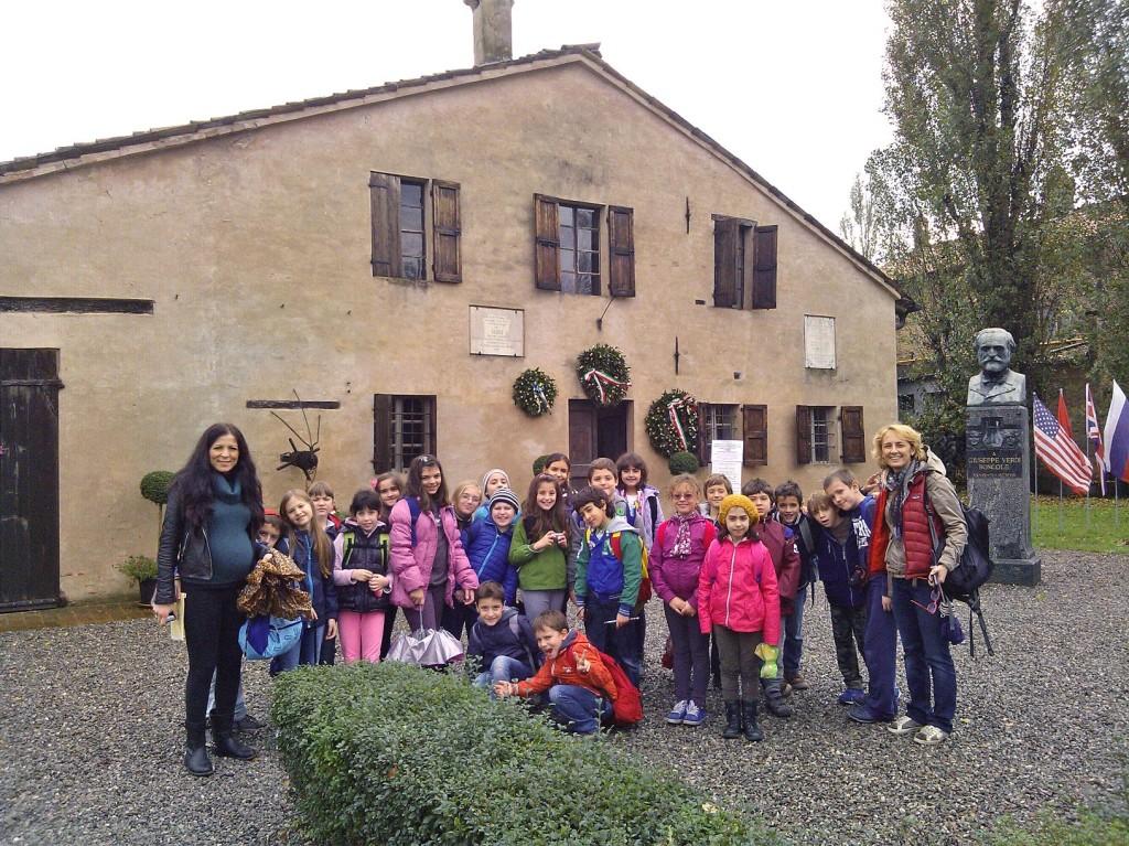 """Uscita didattica de """"La scuola di Edith"""" presso la casa natale del Maestro Giuseppe Verdi, 29 Ottobre 2013"""