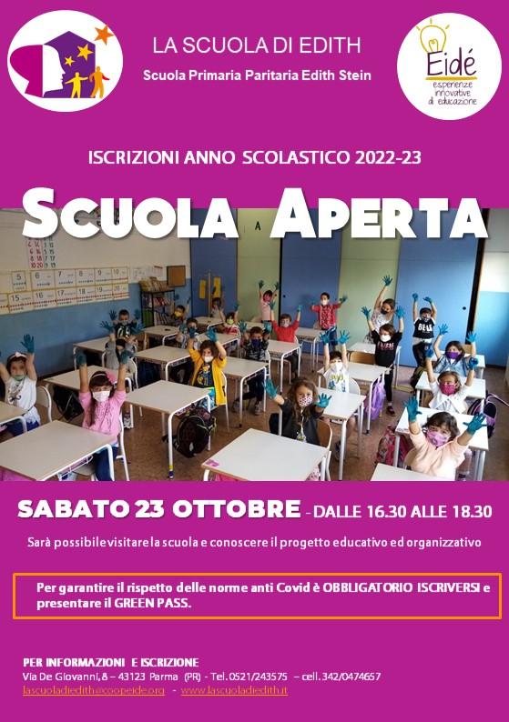 Scuola Aperta – 23 ottobre 2021